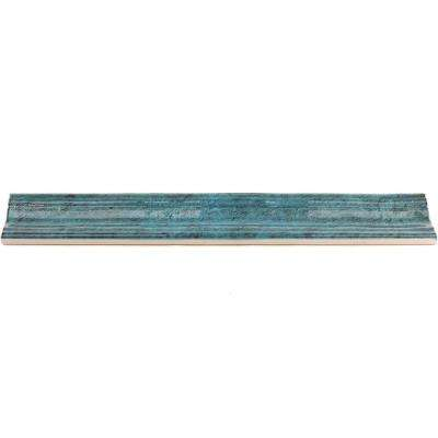 Moze Blue 2 in. x 12 in. Ceramic Chair Rail Liner