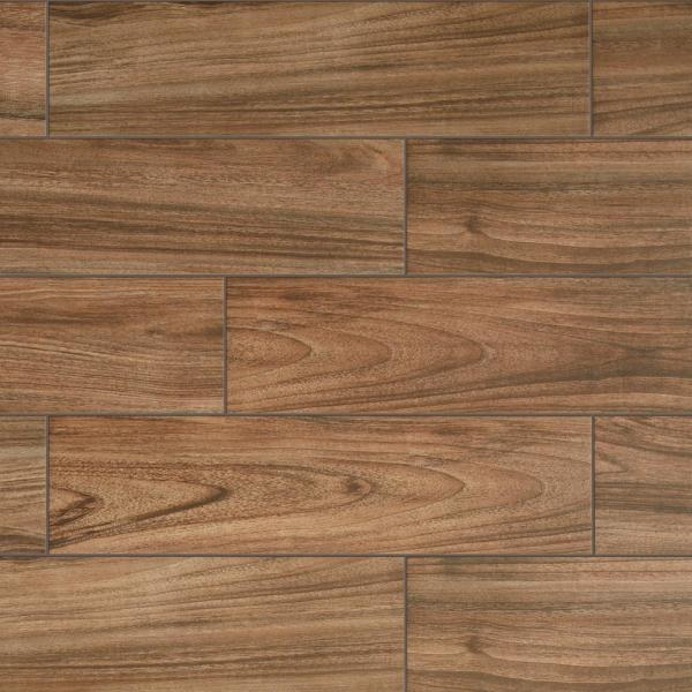 Baker Wood Walnut 6 in. x 24 in. Glazed Porcelain Floor and Wall Tile (392.85 sq. ft./Pallet)