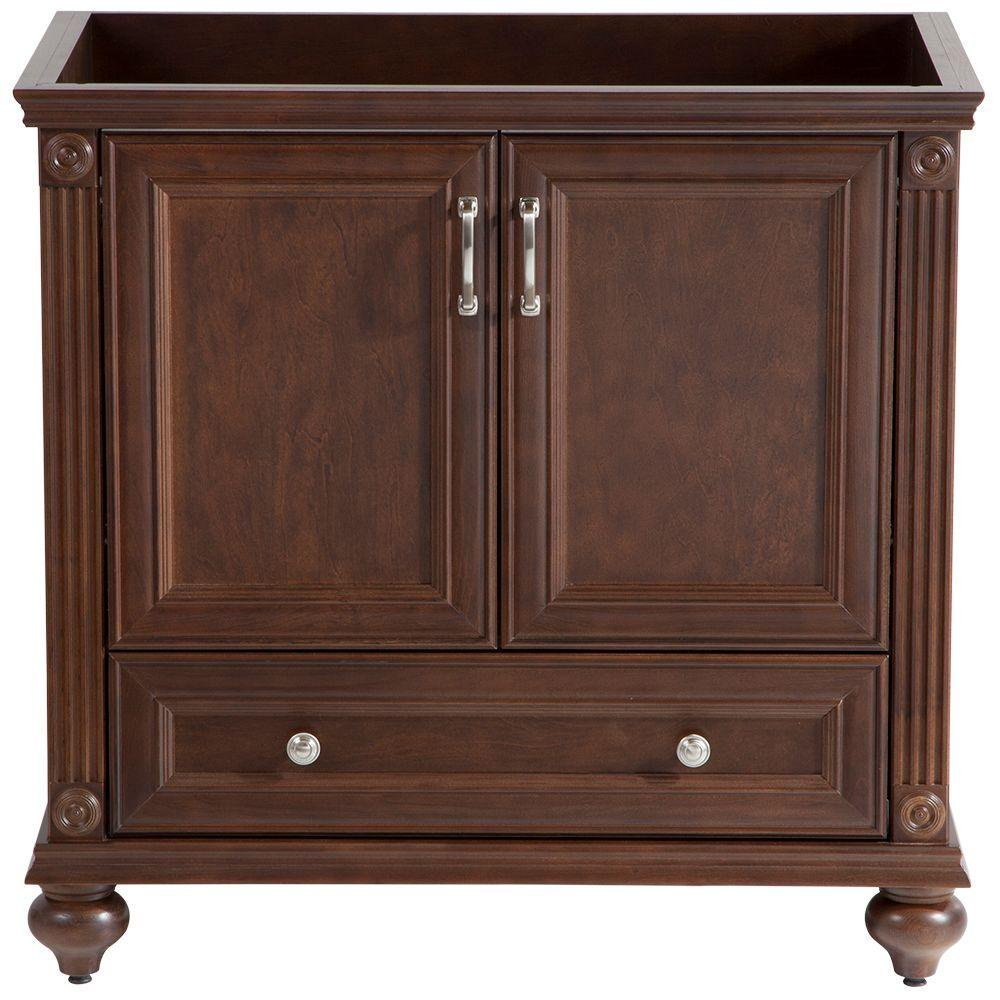 Home Decorators Collection Annakin 36 In W Bath Vanity Cabinet Only In Cognac Clsd3621 Cg The