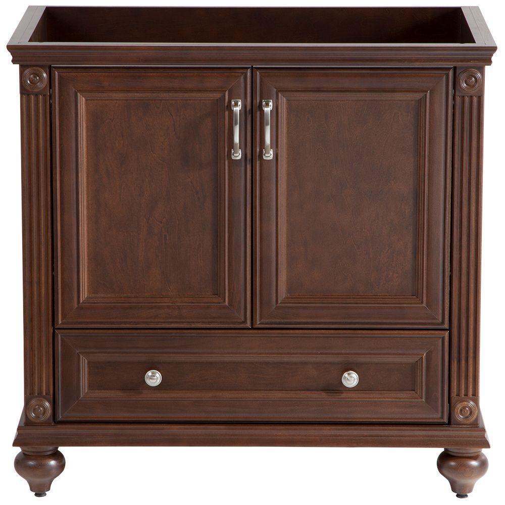 Annakin 36 in. W Bath Vanity Cabinet Only in Cognac