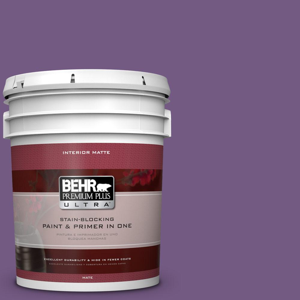 5 gal. #650B-7 Mystical Purple Flat/Matte Interior Paint