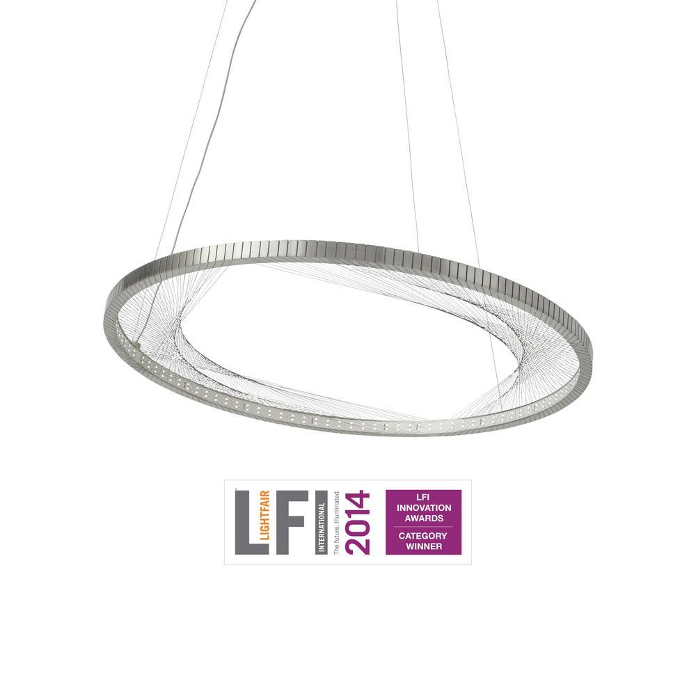 2d19994d9cb3 LBL Lighting Interlace Satin Nickel LED Chandelier-SU767SCLED - The ...