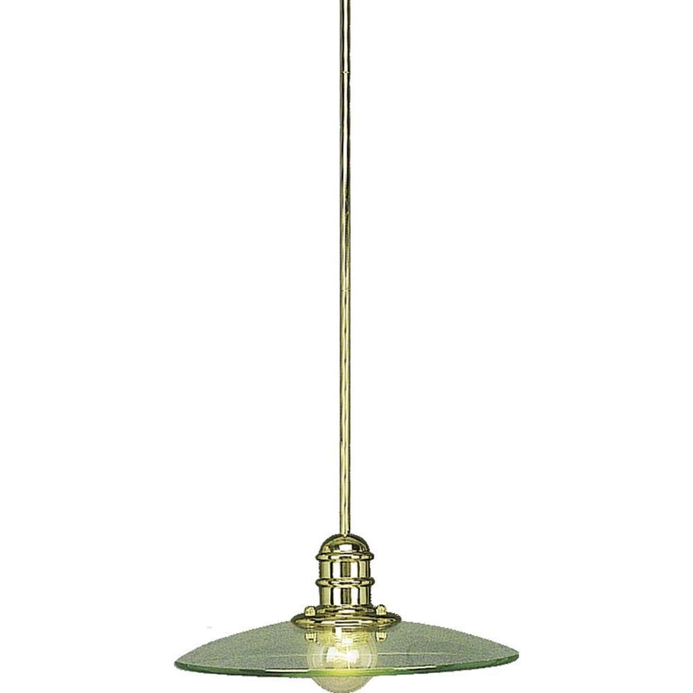 Volume Lighting Edo 1 Light Polished Brass Interior Pendant V1873 2 The Home Depot