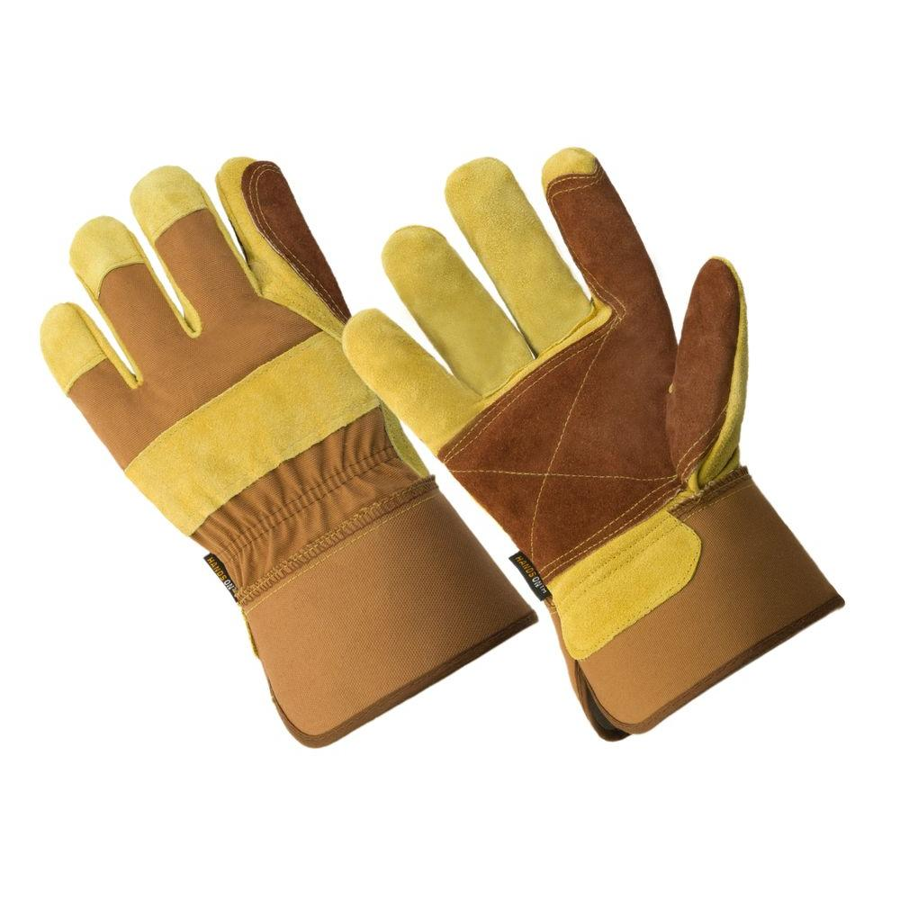 508c46dc9b000 HANDS ON Premium Suede Double Leather Palm Work Glove-LP4330-HOWG-XL ...