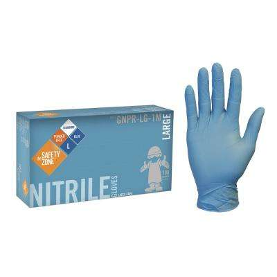 X-Large Blue Nitrile Glove Powder-Free Bulk 1000 (10-Pack of 100-Count)