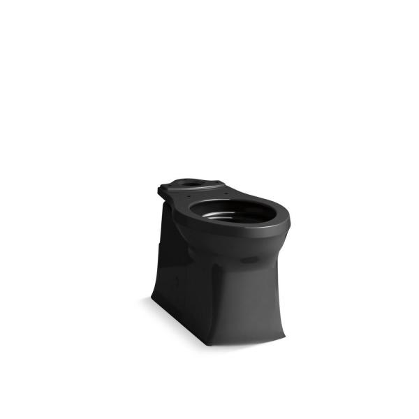 Corbelle 16.5 in. Skirted Elongated Toilet Bowl Only in Black