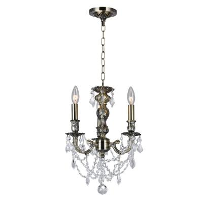 Brass 3-Light Antique Brass Pendant