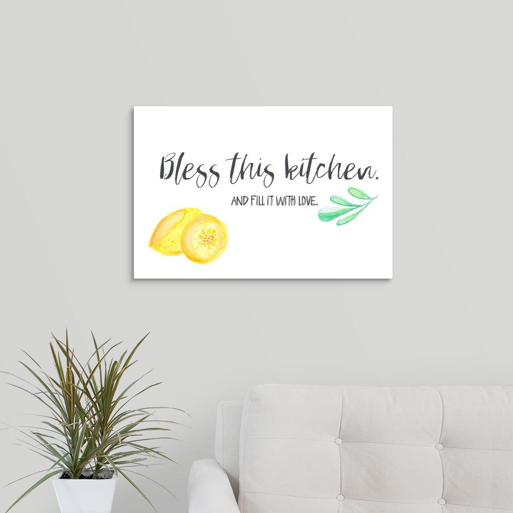 """Kitchen Blessing Wall Decor: GreatBigCanvas """"Kitchen Blessings I"""" By Pamela J. Wingard"""