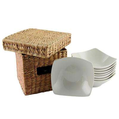 Zen Buffetware White Square Bowls (Set of 8)