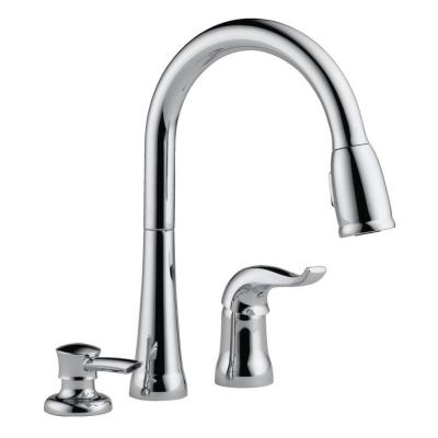 3 Hole Pull Down Kitchen Faucets Kitchen Faucets The Home Depot