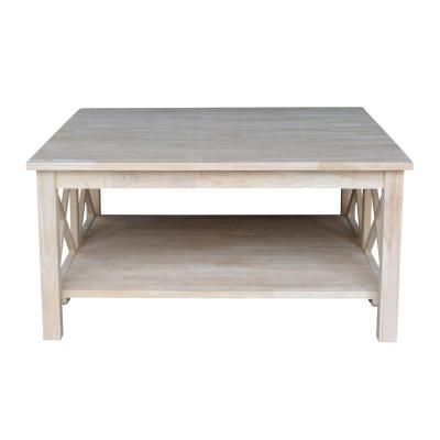 Hampton 36 in. Unfinished Medium Square Wood Coffee Table