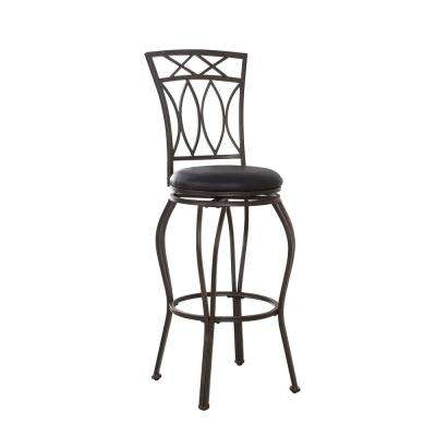 Swiveling Metal Bar Stool 44.5 in. H with Cushioned Seat