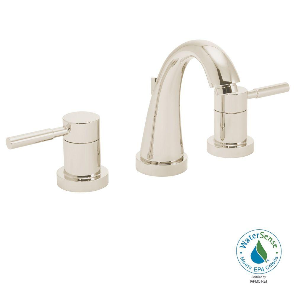 Speakman Neo 8 in. 2-Handle Bathroom Faucet in Polished Nickel with Pop-up Drain-DISCONTINUED