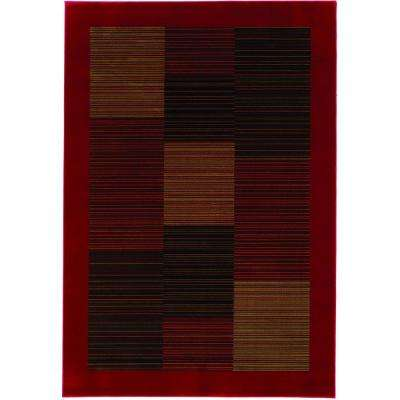 Everest Hampton's Red 3 ft. 11 in. x 5 ft. 3 in. Area Rug