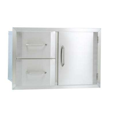 Built In Door/Double Drawer Storage Combo - Bullet by Bull