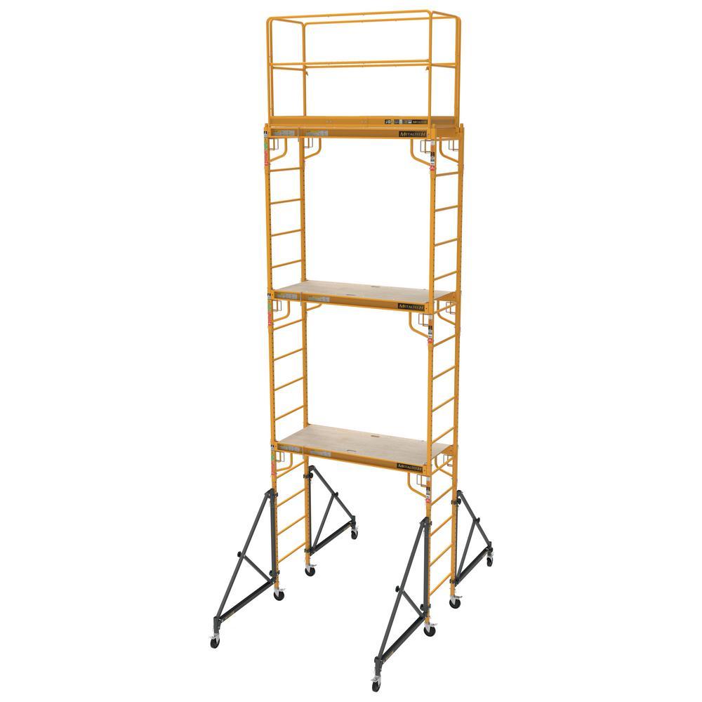 "Scaffolding Steel Outriggers 4-Piece Set 2-Story Platform Set-Up 18/"" Support"