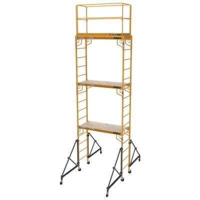 18 ft. x 2 ft. x 6 ft. Steel Jobsite Series Baker Scaffold Tower with 1000 lbs. Load Capacity