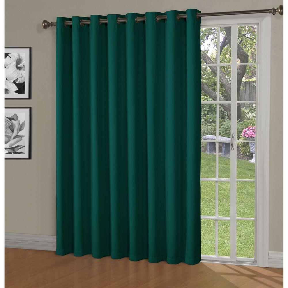 patio door teal woven in curtain extra w wide maya blackout x bella drapes panel p grommet luna l curtains