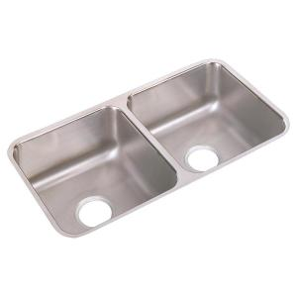Elkay LRAD3122554 4-Hole Gourmet Lustertone 31-Inch x 22-Inch Self Rimming Single Basin Stainless Steel Kitchen Sink