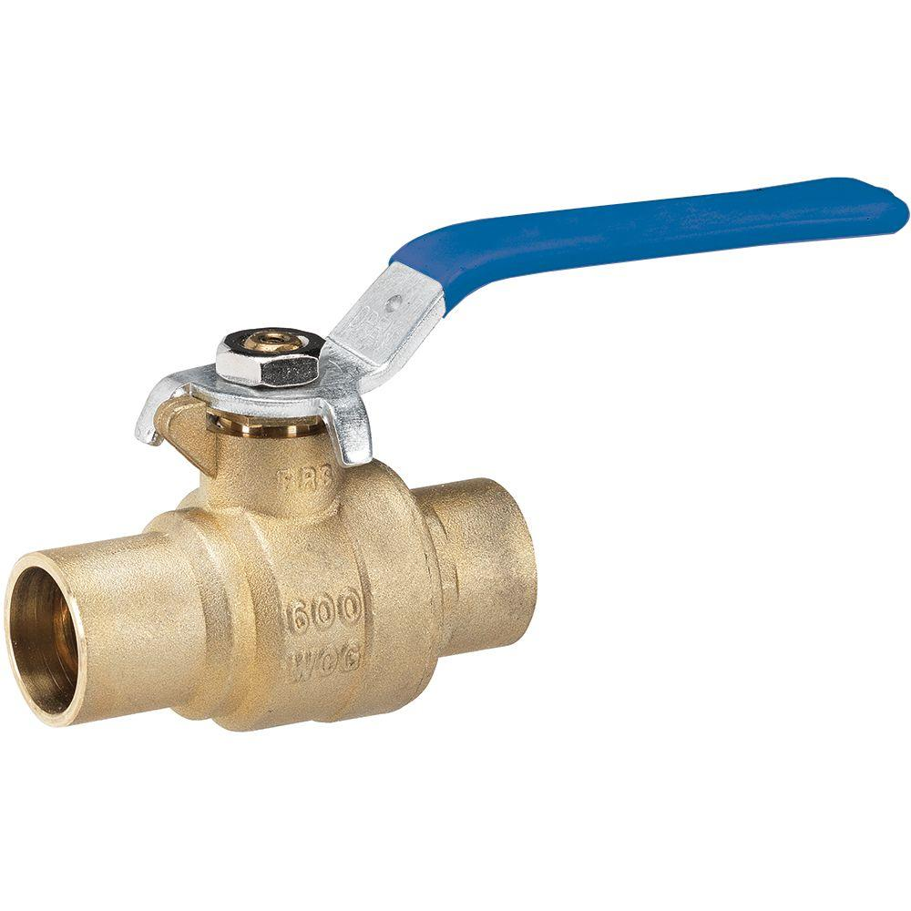 3/4 in. Lead Free Brass Industrial Sweat x Sweat Ball Valve