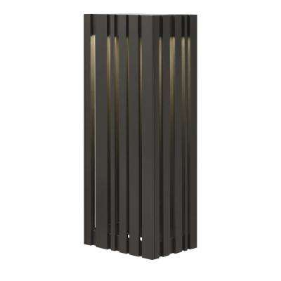 Uptown 1-Light Bronze Outdoor 17.7 in. Large LED Wall Light