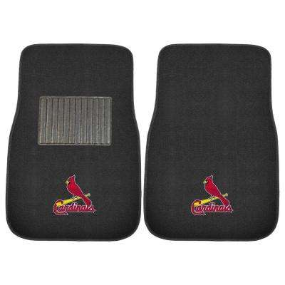 MLB St. Louis Cardinals 2-Piece 17 in. x 25.5 in. Carpet Embroidered Car Mat