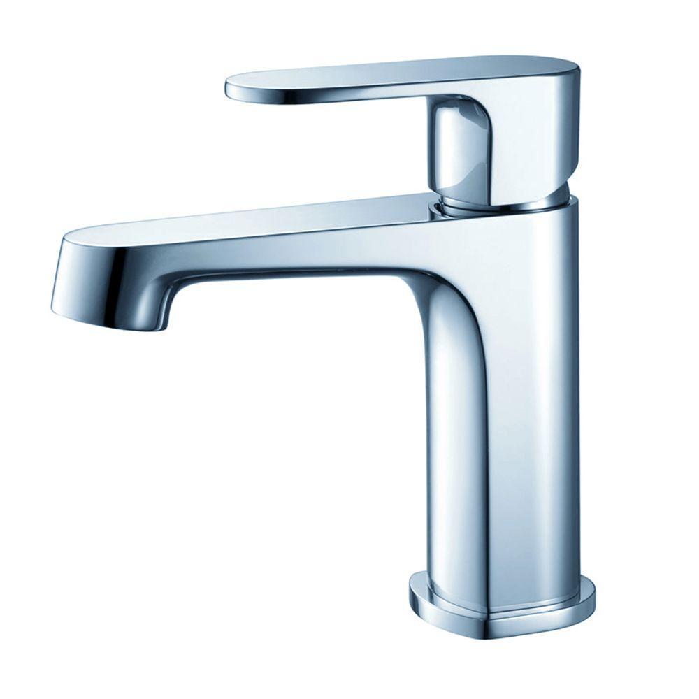 Gravina Single Hole 1-Handle Low-Arc Bathroom Faucet in Chrome