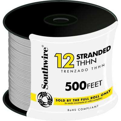 500 ft. 12 White Stranded CU THHN Wire
