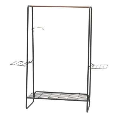 Black Metal Clothes Rack (55 in. W x 59 in. H)
