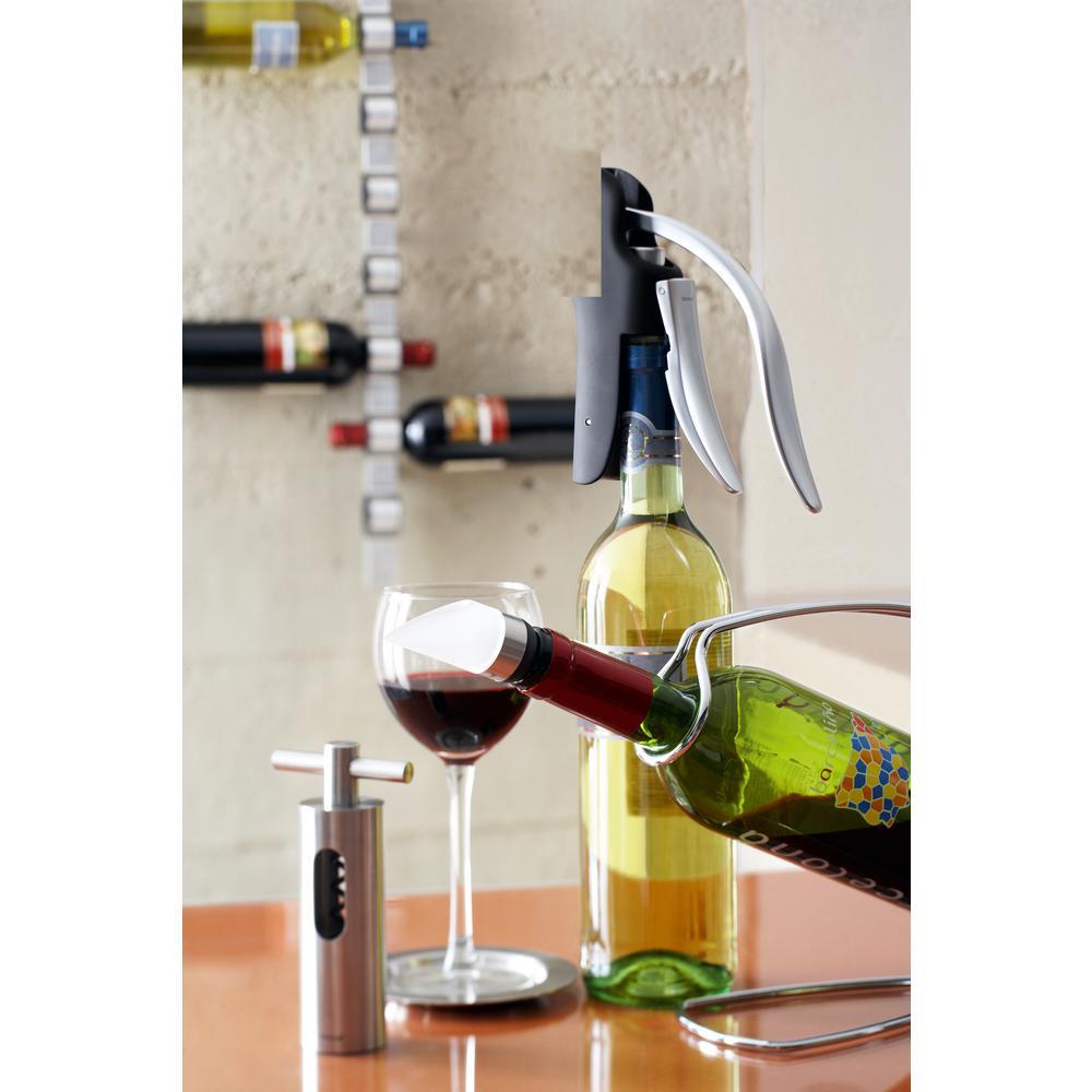 Cioso 8-Bottle 1.3 in. W Stainless Steel Wall Mounted Wine Rack
