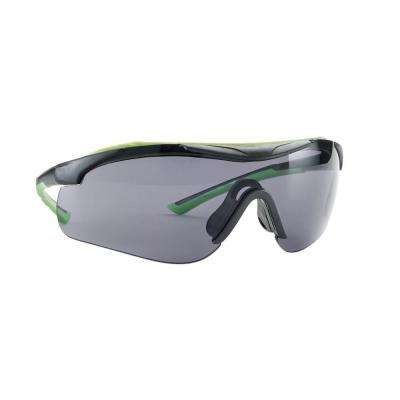 Sports Inspired Design Grey Frame with Tinted Anti-Fog Lenses Performance Safety Glasses