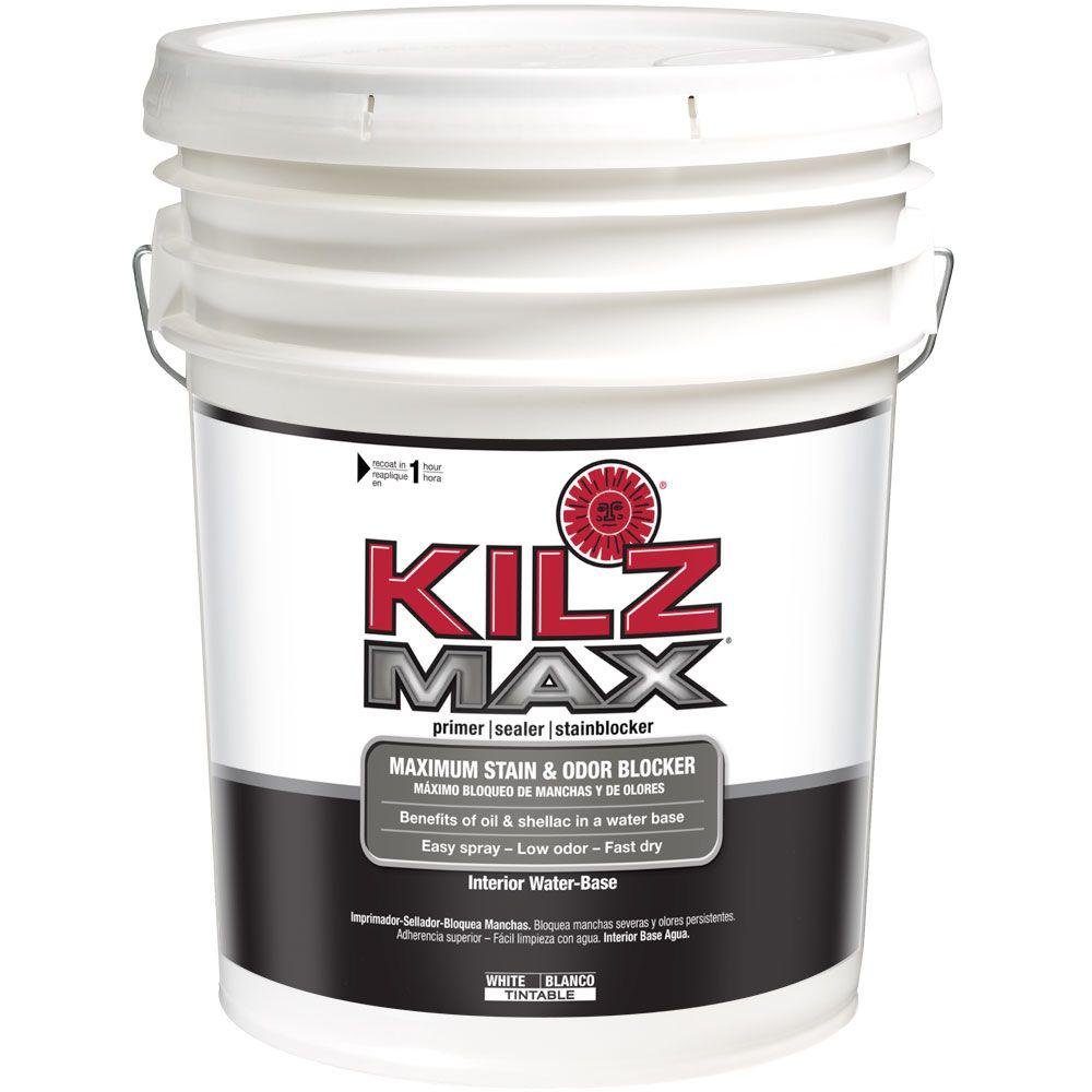 MAX 5 gal. White Water-Based Interior Primer, Sealer and Stain-Blocker