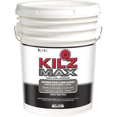 MAX 5-gal. White Water-Based Interior Primer, Sealer and Stain-Blocker