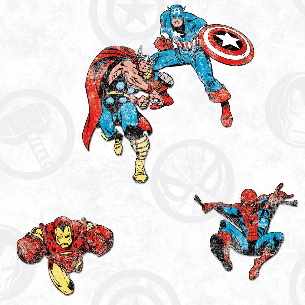 28.29 sq. ft. Avengers Classic Peel and Stick Wallpaper
