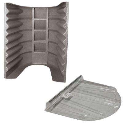 2062 091 Sandstone Egress Well with Polycarbonate Flat Cover Bundle