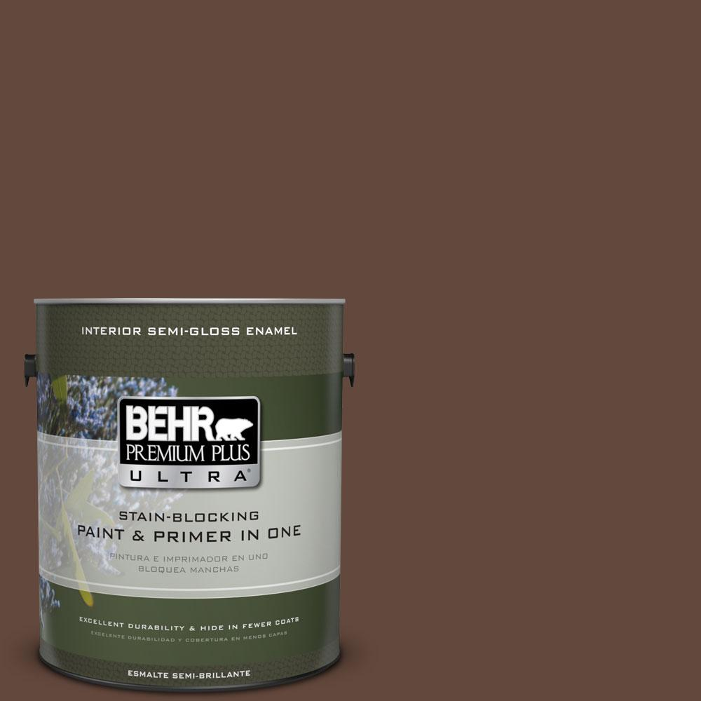 1-gal. #770B-7 Chocolate Sparkle Semi-Gloss Enamel Interior Paint