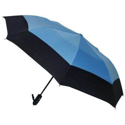 46 in. Arc Windguard Auto Open Auto Close Sport Umbrella in Black/Blue