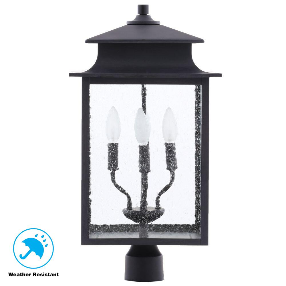 World Imports Sutton Collection 3 Light Rust Outdoor Wall: World Imports Sutton Collection 4-Light Rust Outdoor Post