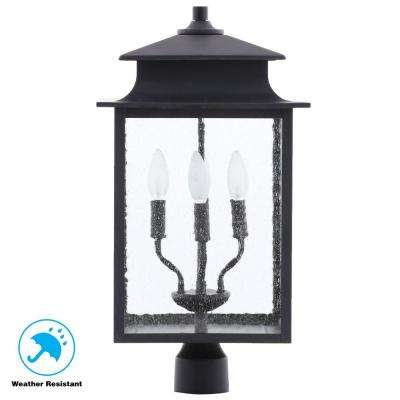 Sutton Collection 4 Light Rust Outdoor Post Lantern