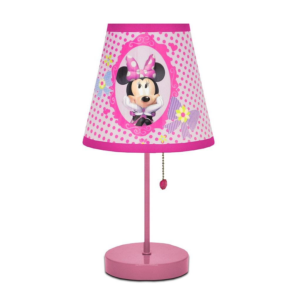 Disney 16 in. Minnie Mouse White Table Lamp-DISCONTINUED