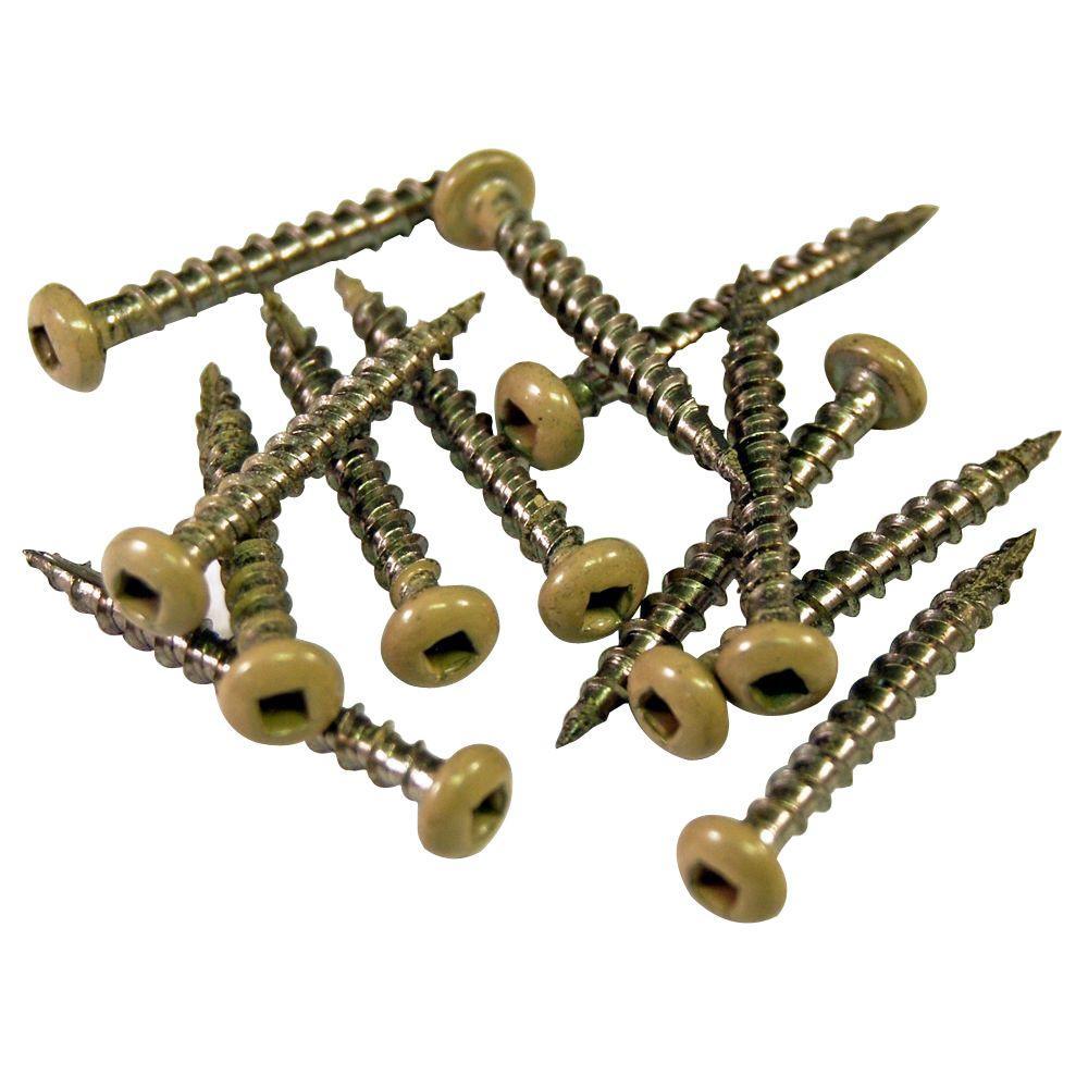 1-1/2 in. Stainless Steel Wicker Screw (12-Piece / Bag)
