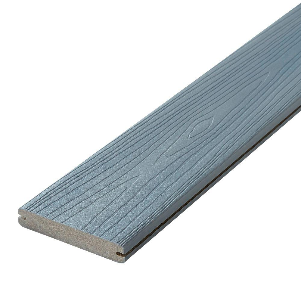 Fiberon horizon 1 in x 5 1 4 in x 12 ft castle gray for Capped composite decking