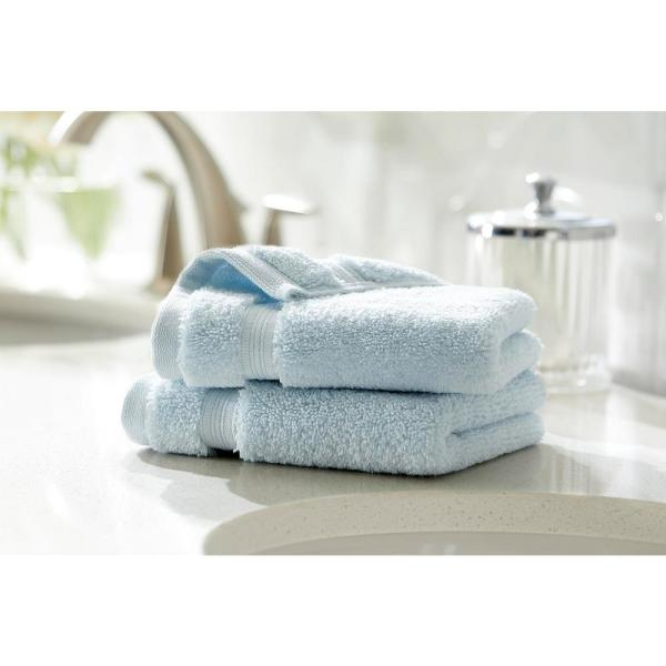 Home Decorators Collection Egyptian Cotton Wash Cloth in Raindrop (Set of