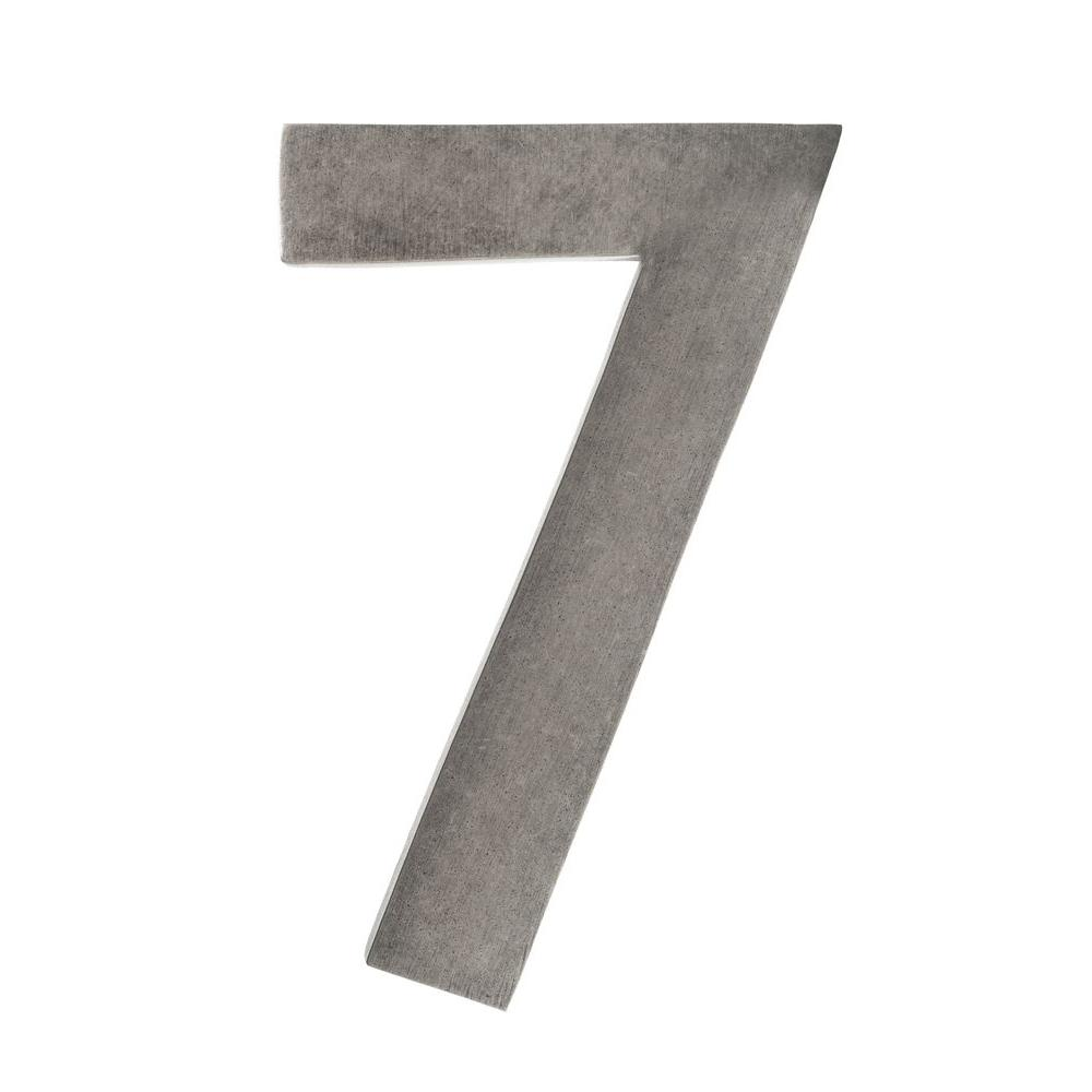 4 in. Antique Pewter Floating House Number 7