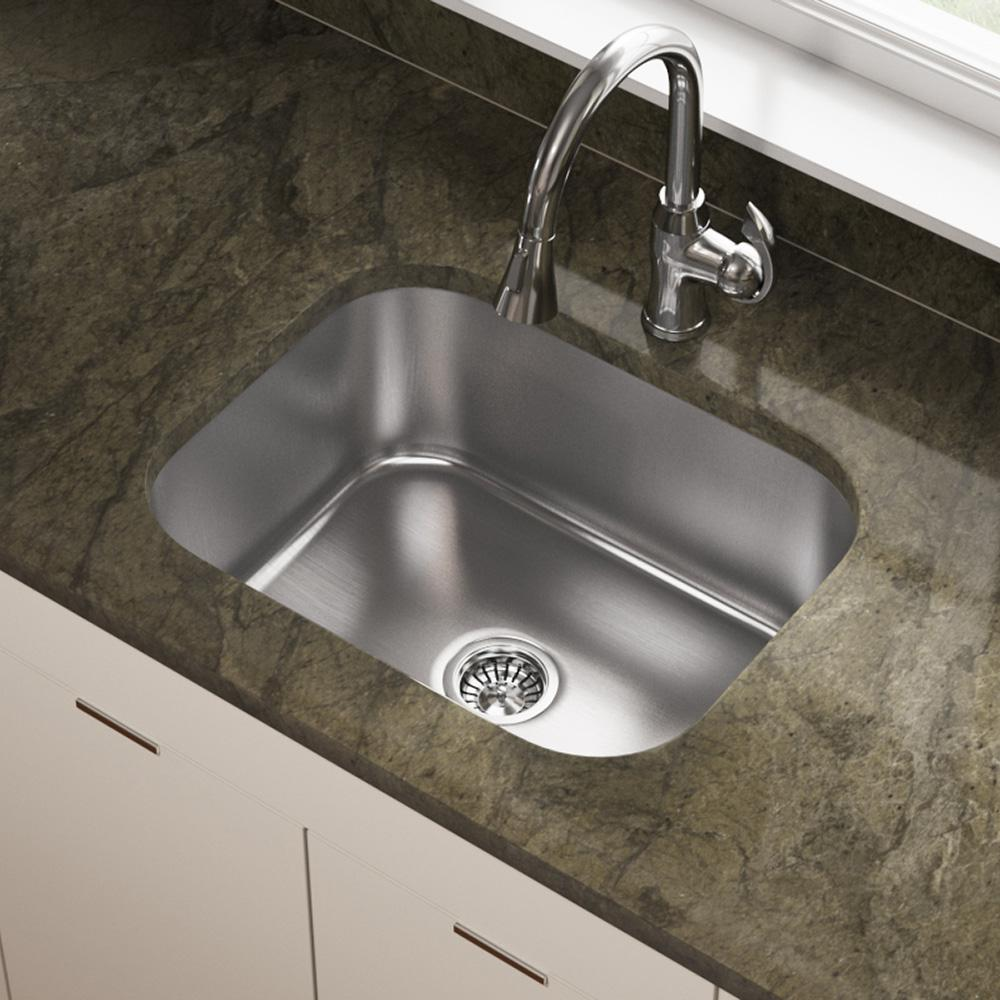 Mr Direct Undermount Stainless Steel 23 In Single Bowl Kitchen Sink 2318 18 The Home Depot