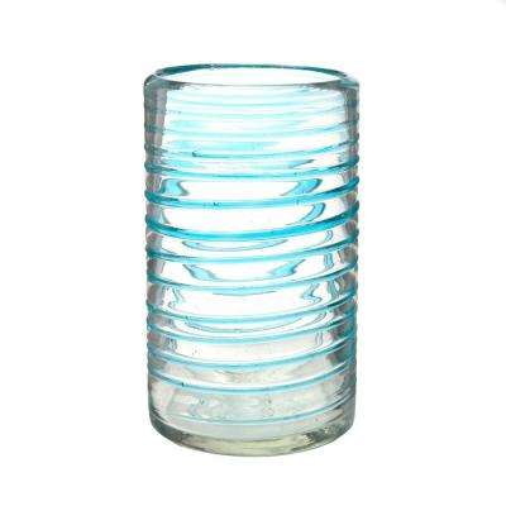 Meridia 6-Piece Clear-Aqua Glass Hiball Drinkware Set with 16 oz. Capacity