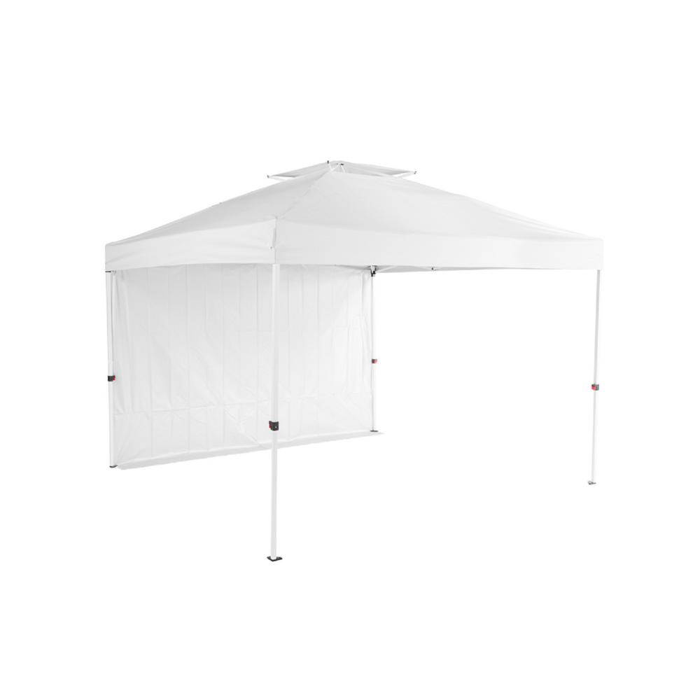 Everbilt Everbilt NS HPP 100 10 ft. x 10 ft. Commercial Instant Canopy-Pop Up Tent with Wall Panel White
