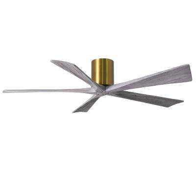 Irene 60 in. Indoor/Outdoor Brushed Brass Ceiling Fan With Remote Control And Wall Control