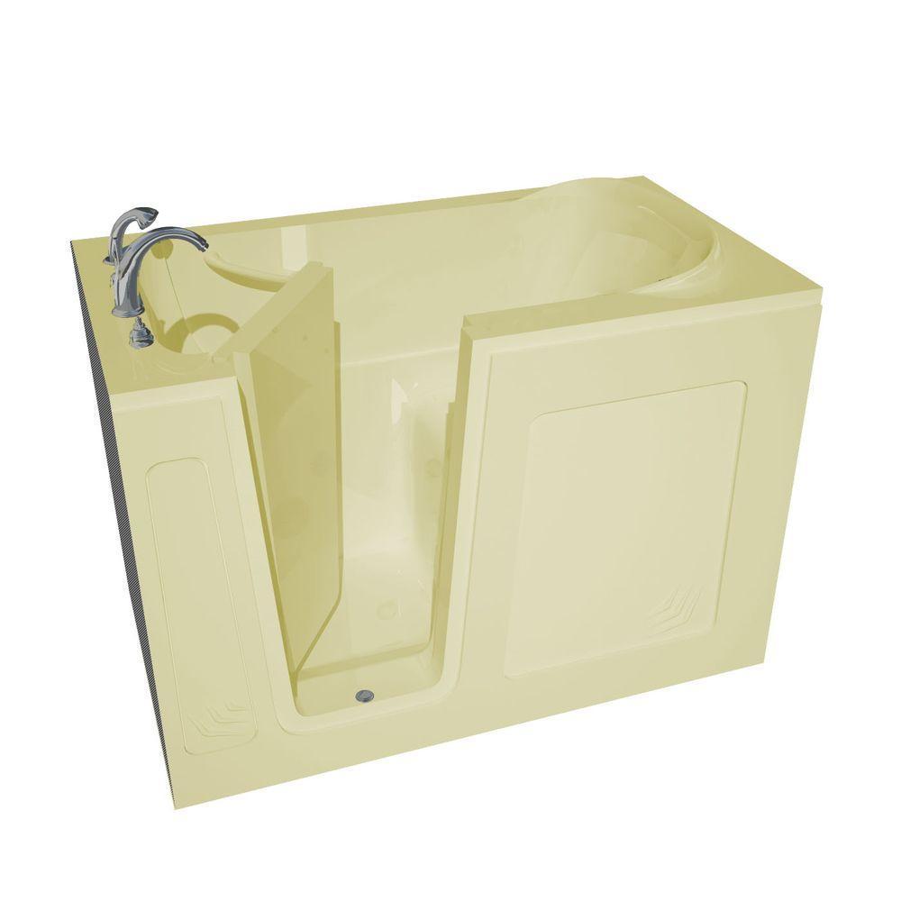 4.5 ft. Left Drain Walk-In Bathtub in Biscuit