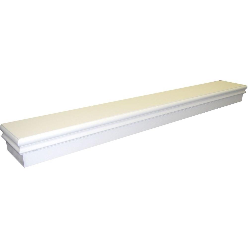 Montego 5 ft. White Cap-Shelf Mantel